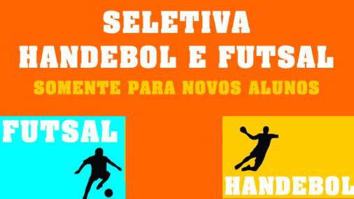 Seletiva de Handebol / Futsal para Alunos Novos – Inscreva-se já